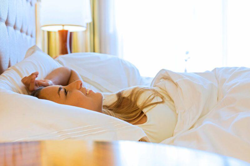 Despertarse en esta cómoda cama de lino...