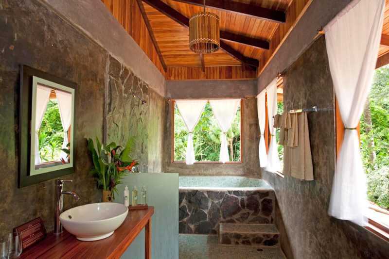 Bathroom at El Remanso, Osa Peninsula