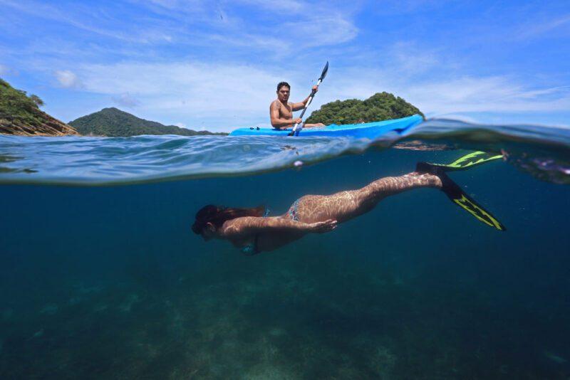 Snorkel + Kayak =True Adventure   Costa Elena