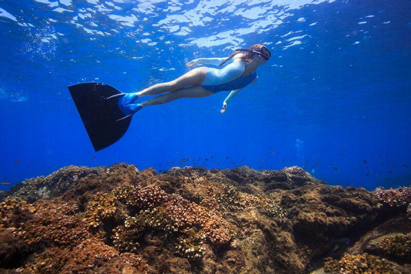 Estos trajes te ayudan a deslizarte mas bajo el agua