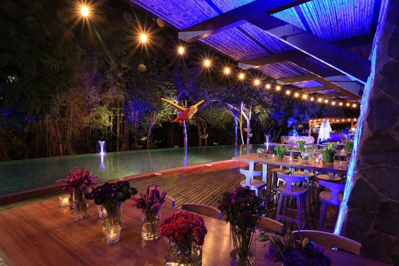 The Birdcage, themed party Setup at Poro Poro, Exclusive Resorts, Peninsula Papagayo