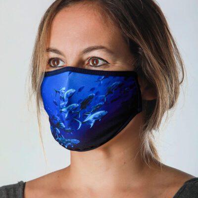 Mascarilla protectora Máscaras del Mar - Azul Profundo