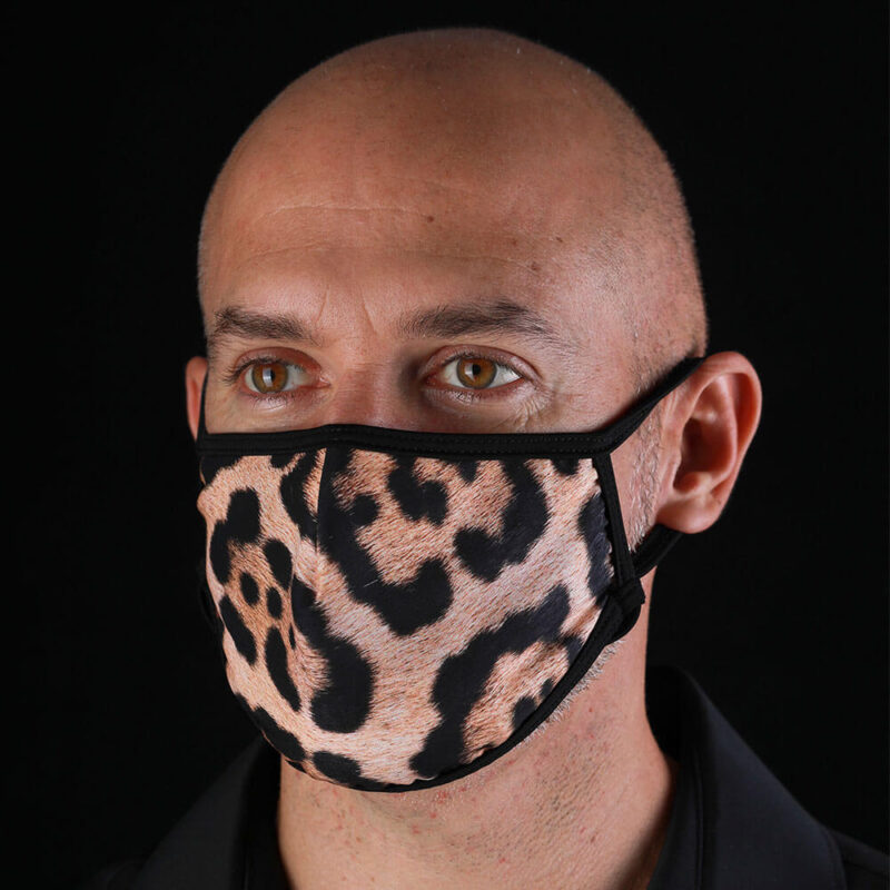 Face Mask from the Forest - Jaguar Print