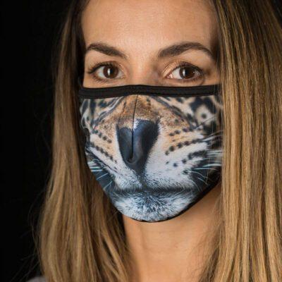 Jaguar Whiskers face mask