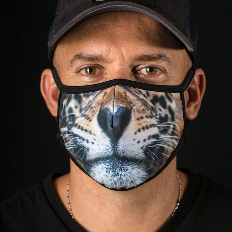 Jaguar Whiskers face mask
