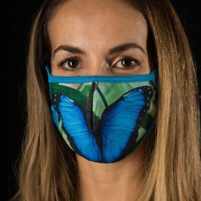 mascarilla protectora mariposa morfo