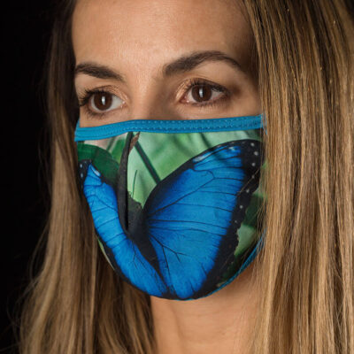 Morpho Butterfly face mask