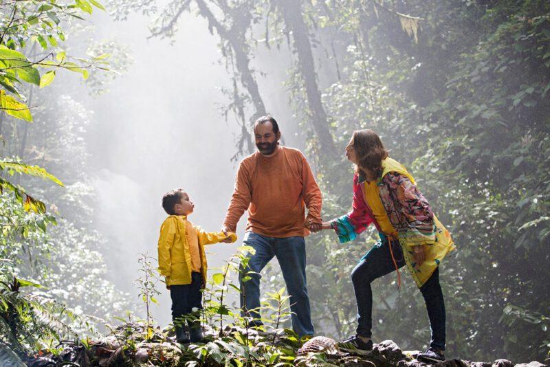 Family portrait at La Paz Waterfall Gardens