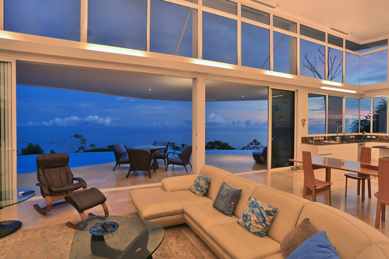 Interior under the blue light - Casa de Luz | Costa Verde Estates