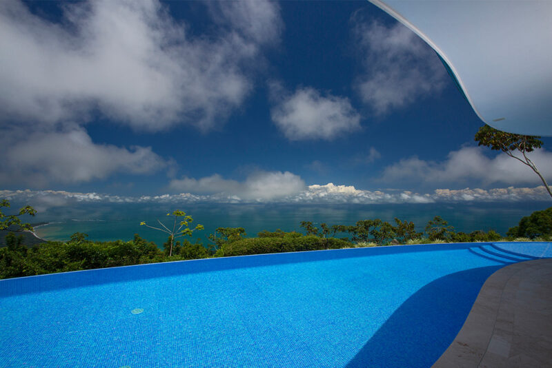 Infinity pool with view of Bahia Ballena - Casa de Luz | Costa Verde Estates